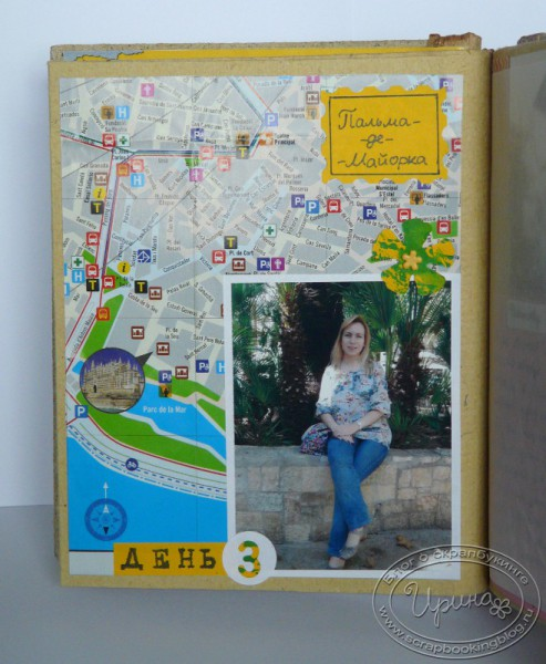 Palma de Mallorca walk – page from Majorca travel-book