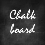 Trend: Chalkboard