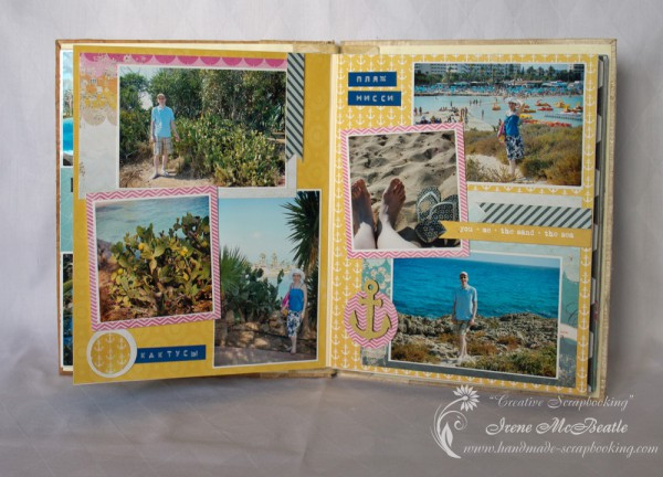 Cyprus Vacation Album - Spread 4 - Cactuses and Beach