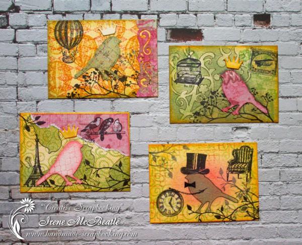 Artist trading cards (ATC) - Very Important Birds