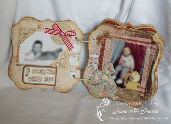 Shaped mini album - Baby girl pages - Prima En Francais