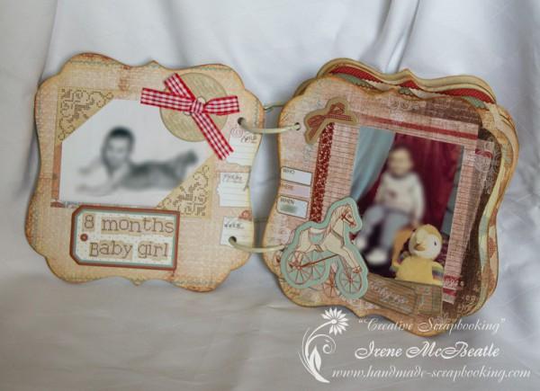 Shaped mini album - Baby girl pages - Prima En Francais