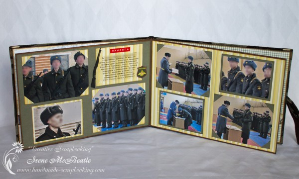 Military Service Photoalbum Layout 2