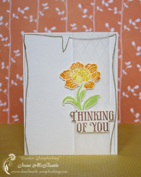 "Clean & Simple Card ""Thinking of You"""
