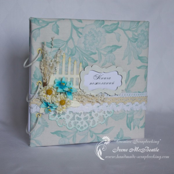 Guest Book with Soft Fabric Cover