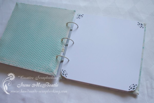 Guest Book with Ring Binding and Punched Corners