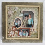 Framed Scrapbook Layout For My Grandma