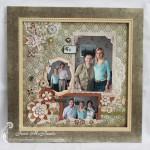 Framed Scrapbook Layout For My Grandma
