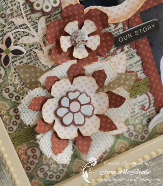 Tim Holtz Tattered Florals Embellishments