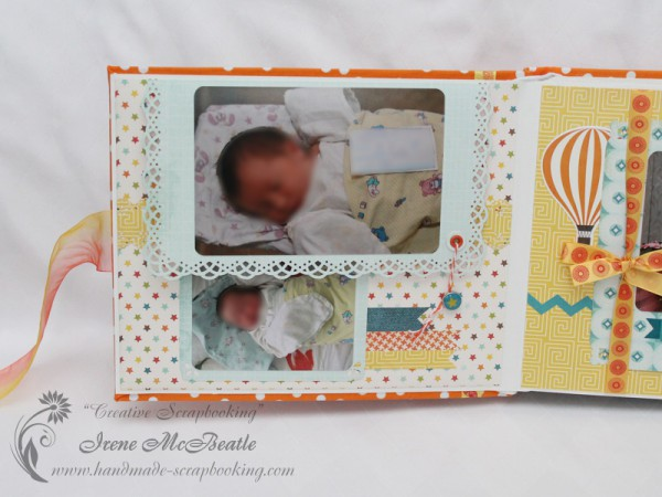 Colorful baby album, Echo Park papers
