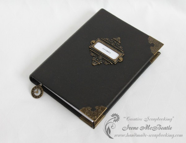Handmade Notebook with Black Faux Leather Cover