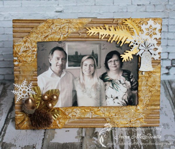 "Handmade Photo Frame ""Golden Winter"""