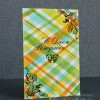 Card With Plaid Background
