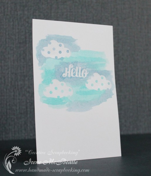 Hello Card - Watercolor