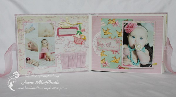 Newborn Scrapbook - Birth data label