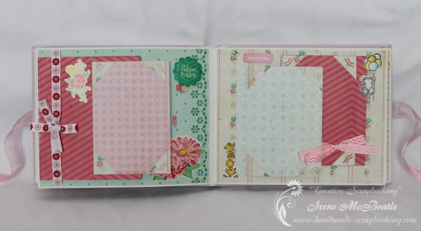 Newborn Scrapbook - Bows, flowers