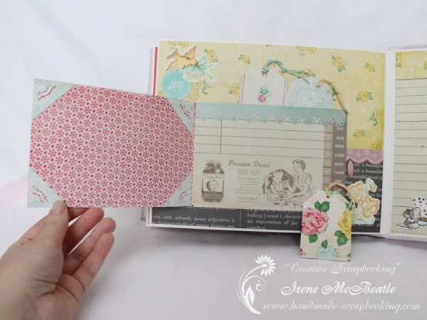 Newborn Scrapbook - Photo pop-up and journalling tag