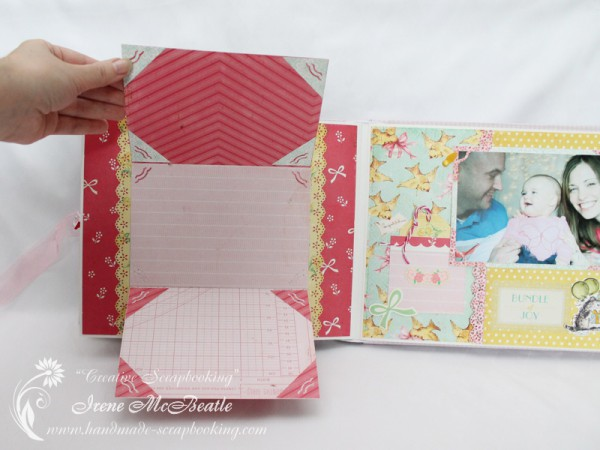Newborn Scrapbook - Secret photo space