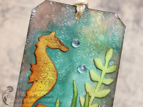 Clear Plastic Embossing and Seahorse