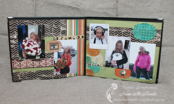 Masculine Scrapbooking Album - Layout About Her