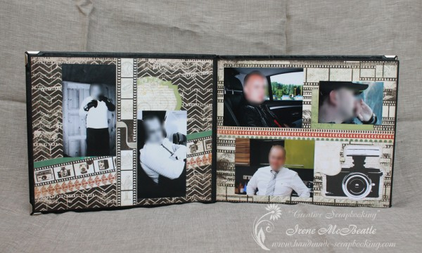 Masculine Scrapbooking Album - Layout About Him