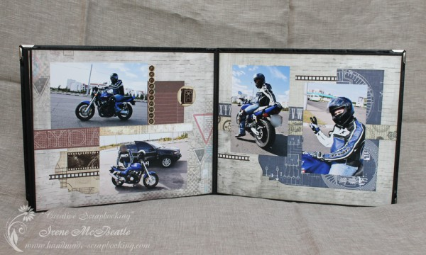 Masculine Scrapbooking Album - Layout On The Road