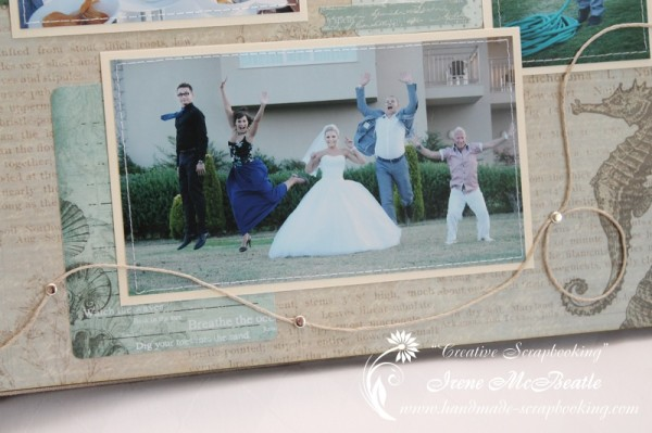 Wedding Scrapbooking - Hemp Embellishment