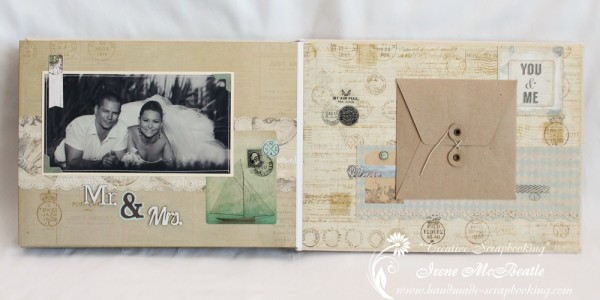 Wedding Scrapbooking - CD Envelope Page