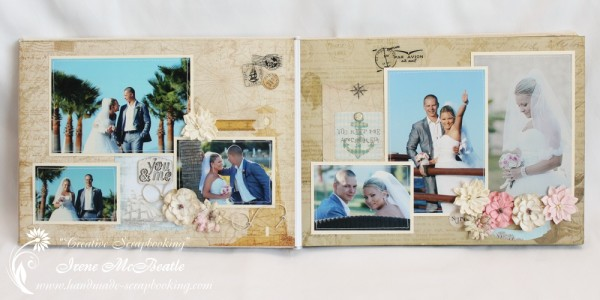 Wedding Scrapbooking - Flowers Page