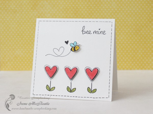 Bee Mine - Clean and Simple Card