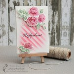 Congratulations Card with Vintage Roses