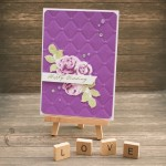 Purple Happy Wedding Card