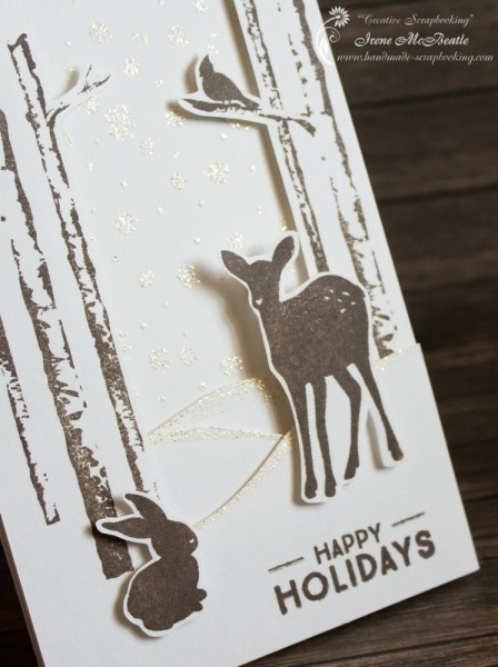 Card - stamping and cutting out
