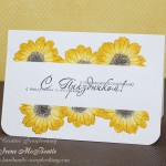 Card: Sunflowers and Stamp Coloring