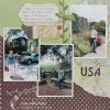 Scrapbooking Layout - Trip to the USA