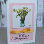 "Card Featuring Tulips From ""a bunch"" Penny Black Stamp Set"