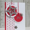 Red White and Silver Christmas Card