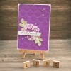 Purple card Happy Wedding